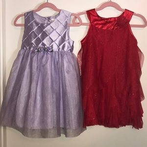 Other - Girls party dresses size 5t (purple) 4t (red)